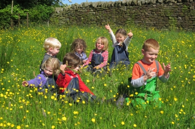 A sunny day at Beyond the Walls Outdoor Nursery