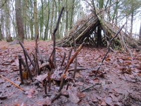Fairy house and a stick den