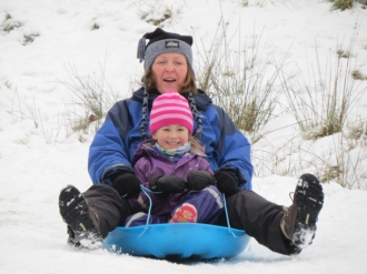 First time sledging!